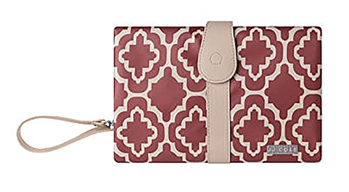 JJ Cole Changing Clutch, Red Trellis