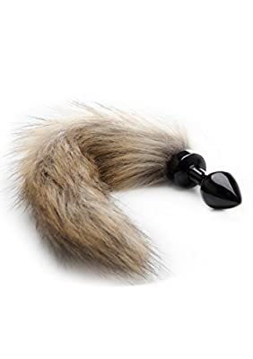 Ouch! Black Fox Tail Buttplug
