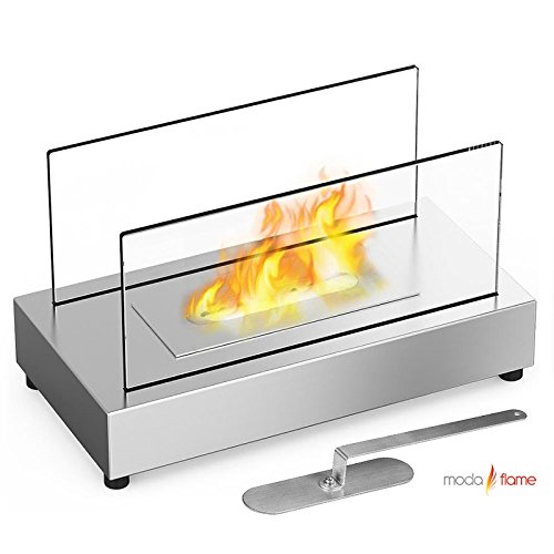 Moda Flame Vigo Table Top Ethanol Fireplace Stainless Steel (Modern Flame Fireplace compare prices)