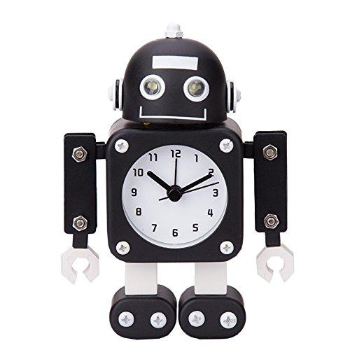 Robot Horloge Movable chevet alarme horloge analogique yeux šŠtincelants Et Son E