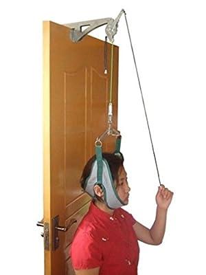 (World Zakka) 自宅で改善 頚椎牽引器 ドア 固定式 セット 頸椎症 頸椎 ヘルニア 首こり 解消 グッズ