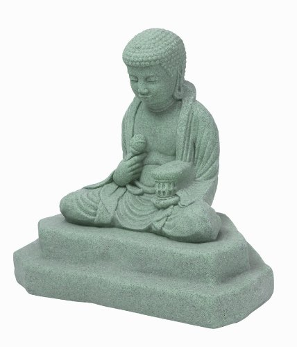 Emsco Group 2221 Poly Buddha Statue Granite 25-Inch