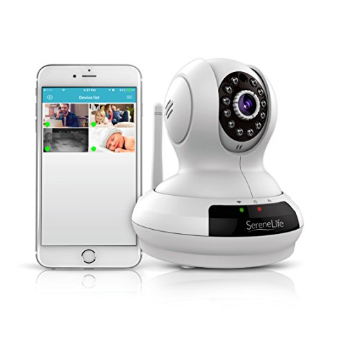 Wireless Home Security IP Camera - HD 720p WiFi Surveillance with Remote Access Mobile App - 1 Year Warranty - SereneLife IPCAMHD61 (1 Year Warranty compare prices)