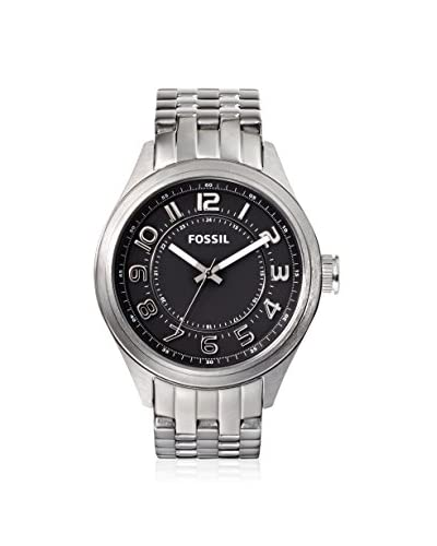 Fossil Men's BQ1037 Asher Silver/Black Stainless Steel Bracelet Watch