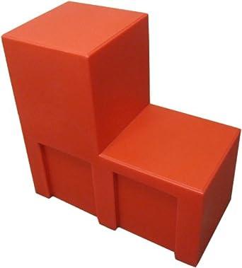 "Forte 8002165 U-Link Merchandiser, 12"" Length x 24"" Width x 24"" Height, Red (Case of 2)"
