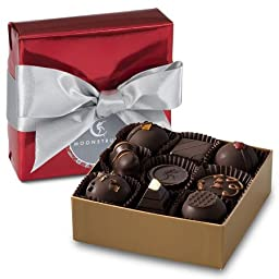 Moonstruck Chocolate 9 Pc. Dark Chocolate Holiday Gift Wrapped Truffle Collection