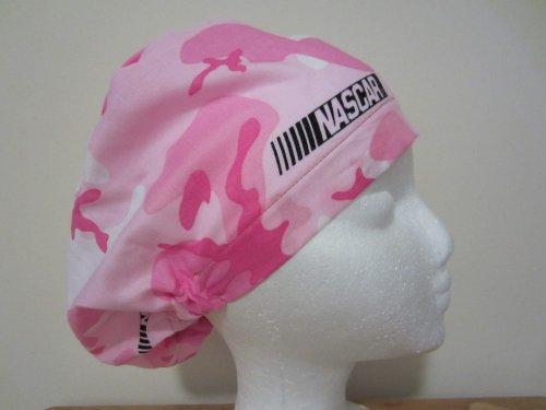 Womens Close Fit Scrub Cap, Adjustable, Nascar Pink Camo