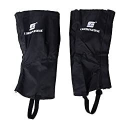 Generic 1 Pair Black Waterproof Hiking Climbing Snow Legging Gaiters Leg Covers - Large Size