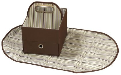 Jj Cole Collections Diaper Caddy, Cocoa Stripe