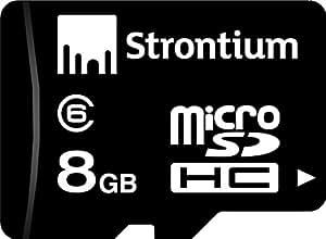 Strontium 8GB MicroSDHC Class 6 Memory Card (SR8GTFC6R)