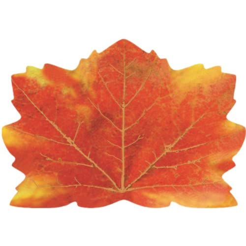 Creative Converting Fall Thanksgiving Maple Leaf Shaped Placemats 25 per Package