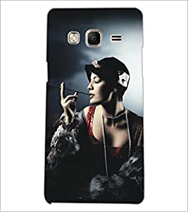PrintDhaba Hat Girl D-5292 Back Case Cover for SAMSUNG Z3 (Multi-Coloured)
