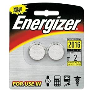 3 X Energizer 2016 3V Lithium Button Cell Battery Retail Pack - 2-Pack