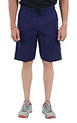 LLUMINATI Men's Cotton Shorts (Bermuda Textile Navy, Navy, XL)