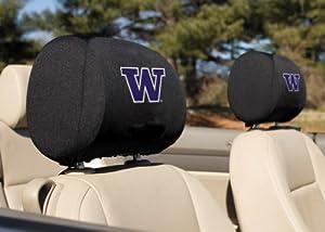 Buy NCAA Washington Huskies Headrest Covers, Set of 2 by BSI