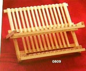gouttoir vaisselle bois de pin 35cm stable et pliable cuisine maison. Black Bedroom Furniture Sets. Home Design Ideas