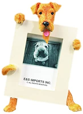 Airedale Terrier Dog 2 1/2 x3 1/2 Photo Frame by E&S