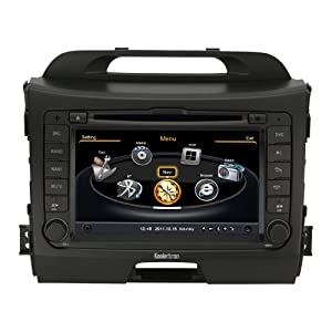 "Koolertron For 2011~2013 KIA Sportage diesel version In-dash DVD Player Autoradio with GPS Sat Nav Navigation /7"" HD Touchscreen /PIP RDS iPod Bluetooth 20 discs cd play 3g wifi + 8G sd card with navi map"