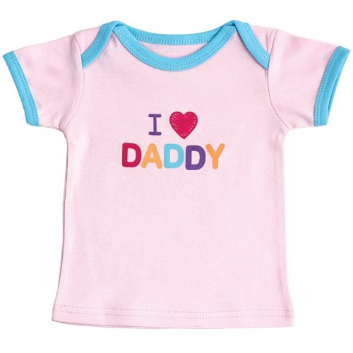Baby Sayings Tee Top - Traditional Girl, Daddy, 0-3 Months front-1034181