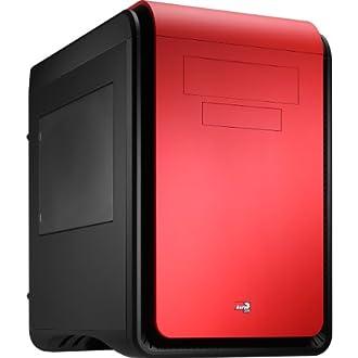 AEROCOOL Micro-ATX対応キューブPCケース DS Cube Window Red(レッド)