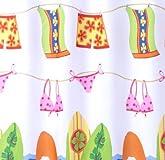 beach theme shower curtain