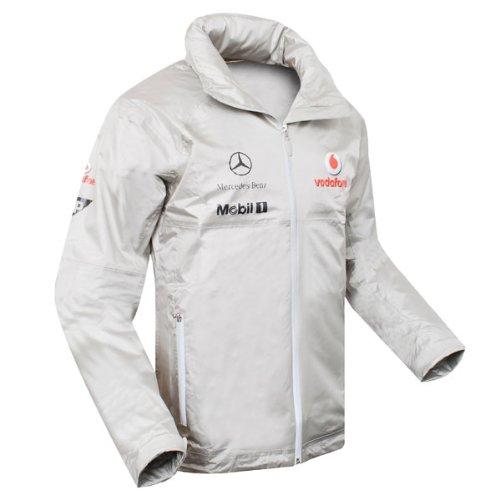 Vodafone McLaren Mercedes windbreaker jacket silver XS