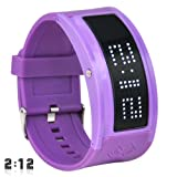 TRIXES Purple LED Watch Band Wrist 10 Character Display Gadget Cool Gift
