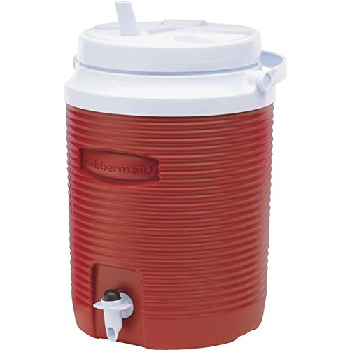 Rubbermaid Victory Jug Water Cooler, Modern Red, 2-gallon (FG153004MODRD) (Two Gallon Beverage Dispenser compare prices)