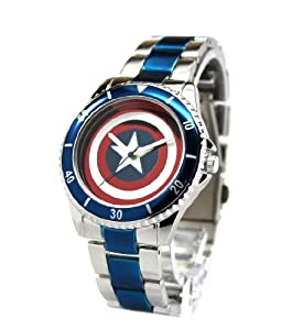 Captain America Shield Watch with Metal Bracelet Band (CTA2103)