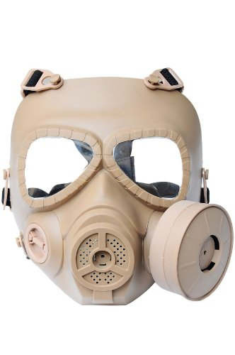 New Airsoft Paintball Full Face Protection M04 Dummy Gas Mask Fan System Sweat Prevent Mist Prop Cosplay De L693