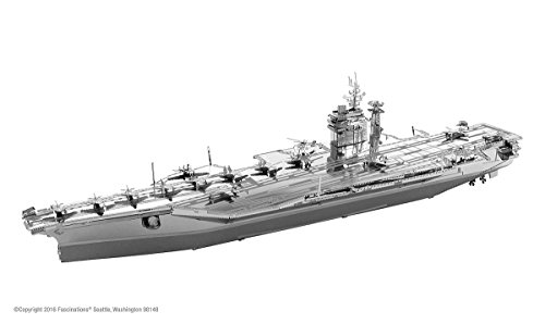 Fascinations ICONX USS Roosevelt CVN-71 Aircraft Carrier 3D Metal Model Kit (Aircraft Carrier Model compare prices)