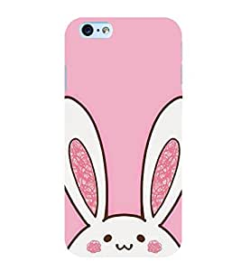 Cute Rabbit 3D Hard Polycarbonate Designer Back Case Cover for Apple iPhone 6 Plus :: Apple iPhone 6+