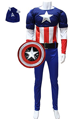 Ace Halloween Adult Men's the Avengers Muscle Captain America Costumes