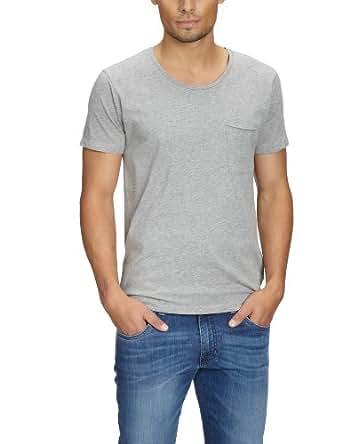 Jack & Jones Premium - T-Shirt - Manches 1/2 - Homme - Gris (Light Grey Melange) - FR: XX-Large (Taille fabricant: XX-Large)
