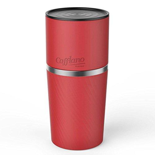 Cafflano カフラノ クラシック ドリップコーヒーメーカーハンドミルグラインダータンブラーSETオールインワンなしエレクトリック Red(海外直送品)