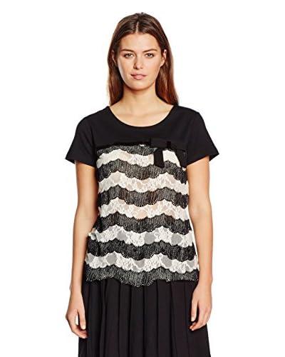 Twin Set T-Shirt Manica Corta [Nero/Bianco]
