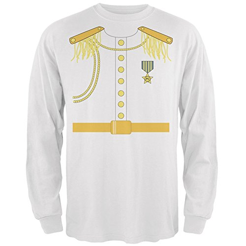 Halloween Prince Charming Costume White Adult Long Sleeve T-Shirt