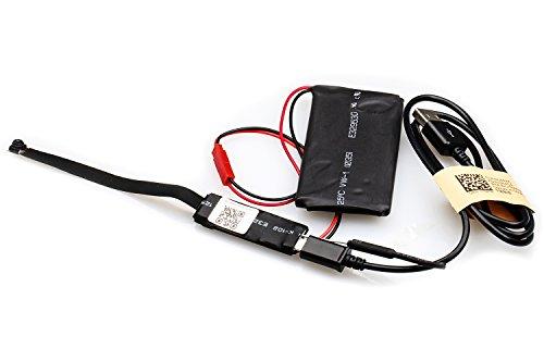 BYD - P2P H.264 Wifi IP Cámara Espia Mini DV Wifi Video de la videoCámara para iPhone Android App con Power Bank