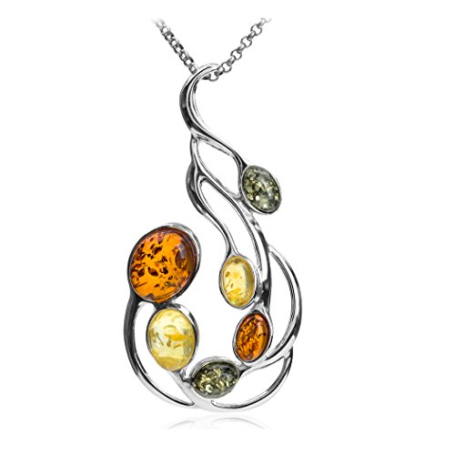 multicolor-amber-sterling-silver-large-pendant-necklace-chain-46-cm