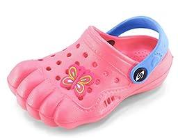 Kids Baby Little Kids Toddler Five Finger Clogs Summer Shoes (Toddler 9, Pink)