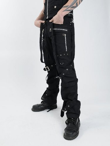 Queen of Darkness, Trousers with bondage straps & buckles, size 40