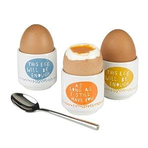 Rob Ryan 'Hello Egg' Set of 3 Egg Cups
