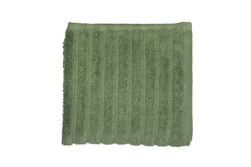Glo Organic Stripe (Jade)-Wash Cloth front-1027881