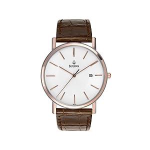 Bulova Men's 98H51 Leather Strap Watch