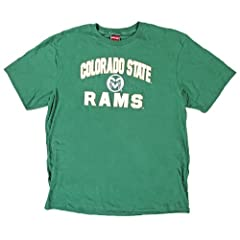 Buy Colorado State Rams Genuine Stuff Green Short Sleeve T-Shirt (Size Large) by Genuine Stuff
