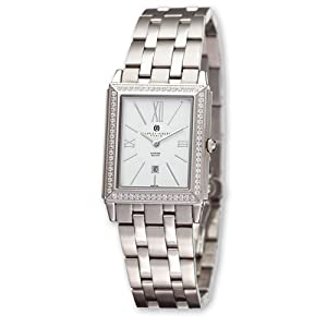 Unisex Stnlss 0.69ct. Dia Wht 28x32mm Dial Watch by Charles Hubert Paris Watches, Best Quality Free Gift Box Satisfaction Guaranteed