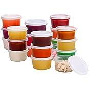 Greenco Mini Food Storage Containers, Condiment, And Sauce Containers, Baby Food Storage And Lunch B