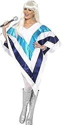 Smiffy's Women's Super Trooper Cape Poncho, White/Blue, One Size