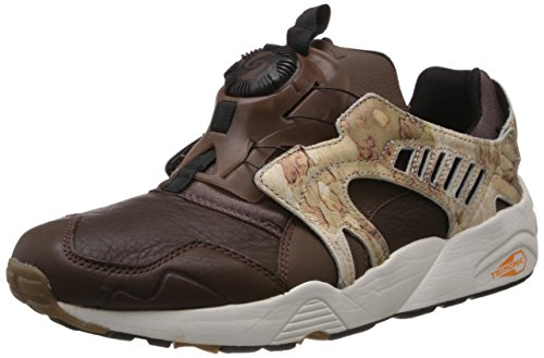 Puma Puma Men's Trinomic Disc Camo Leather Boat Shoes (Grey)