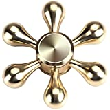 Go Hooked Fidget Spinner Toy Ultra Durable Stainless Steel Bearing High Speed Spins Precision Metal Hand Spinner